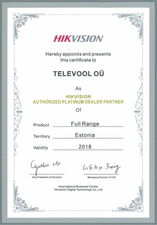 Hikvision sertificate